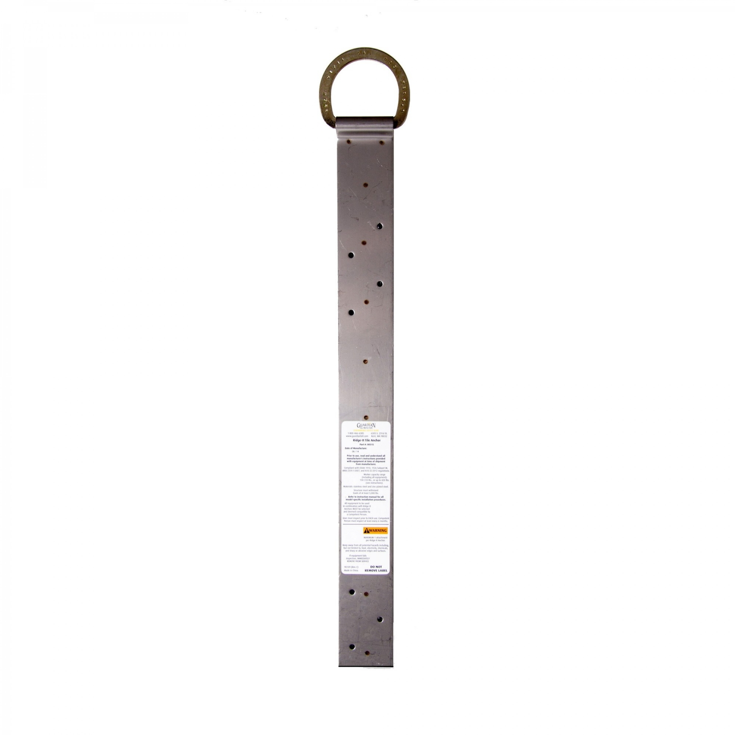 Guardian Fall Protection 00515 18-In Ridge-It Tile Anchor 5000 lbs Strength