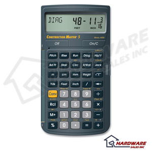 Calc Industry 4050 New Construction Master 5 Calculator Ebay: new construction calculator