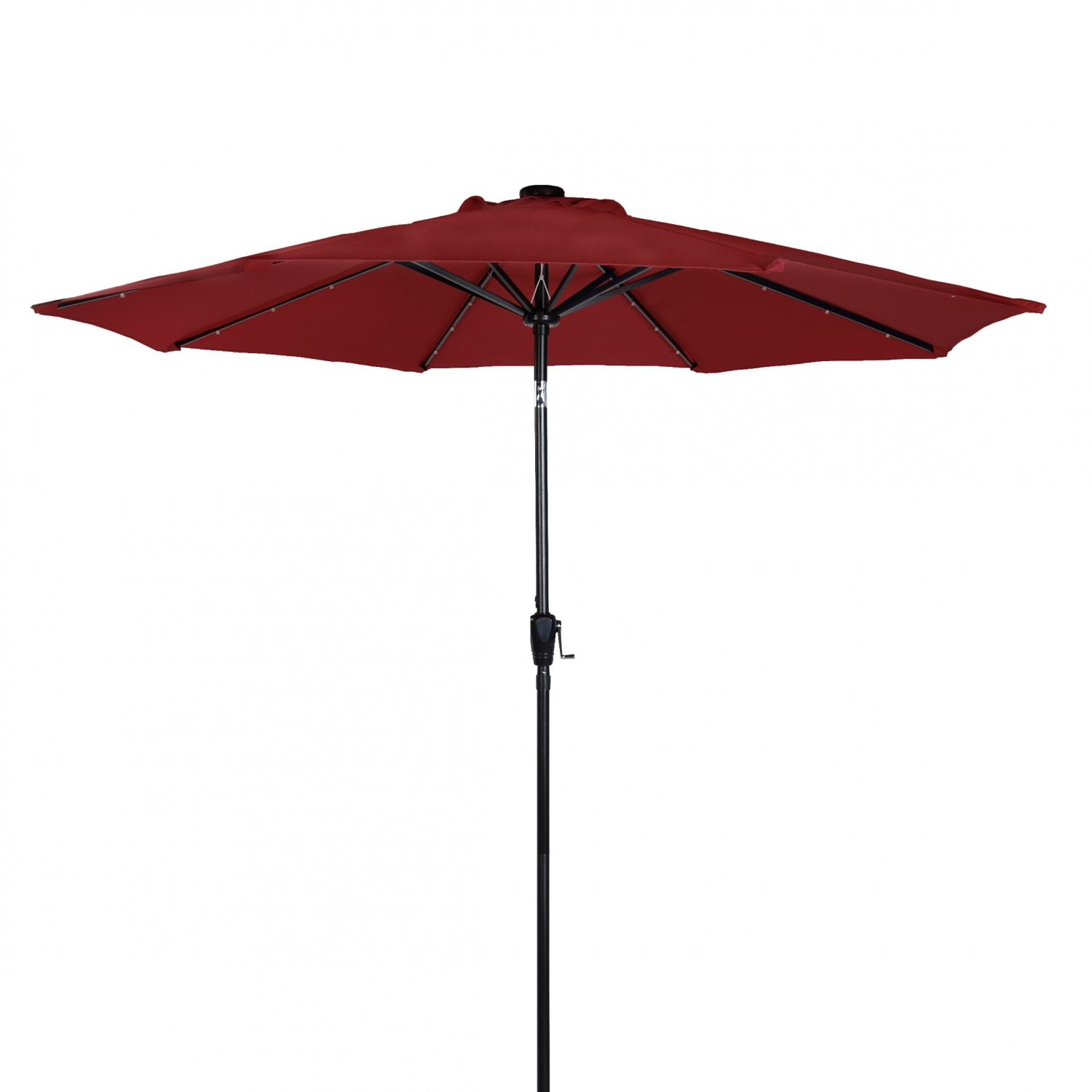 sunergy 50104395 9 39 solar powered patio umbrella w 24 led