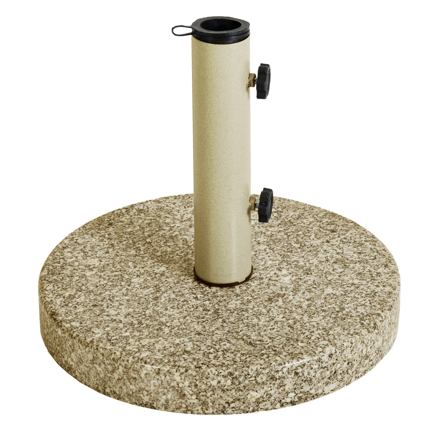 Astonica Taupe Round Granite Patio Umbrella Stand Base