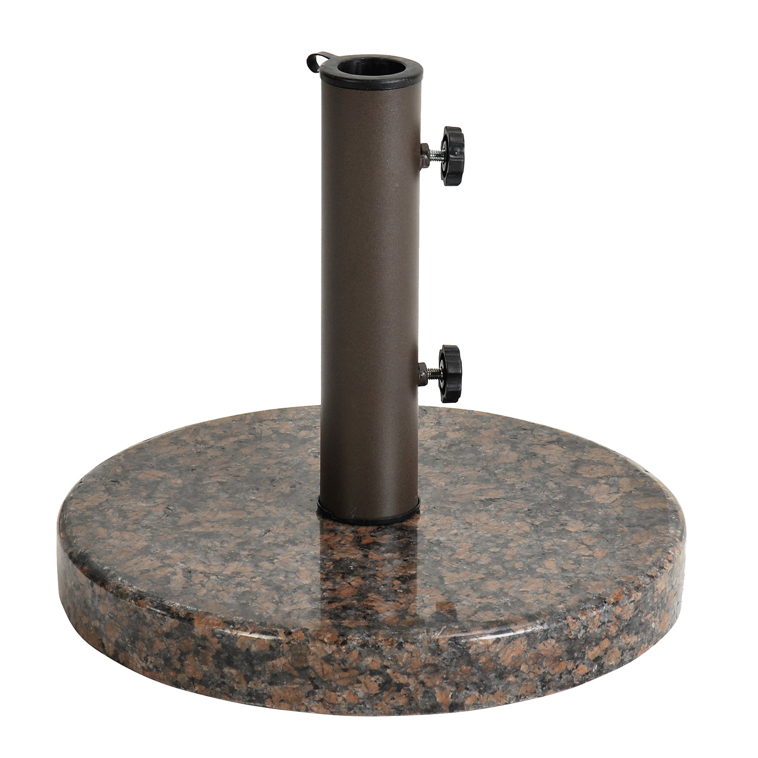 Astonica Coffee Round Granite Patio Umbrella Stand Base