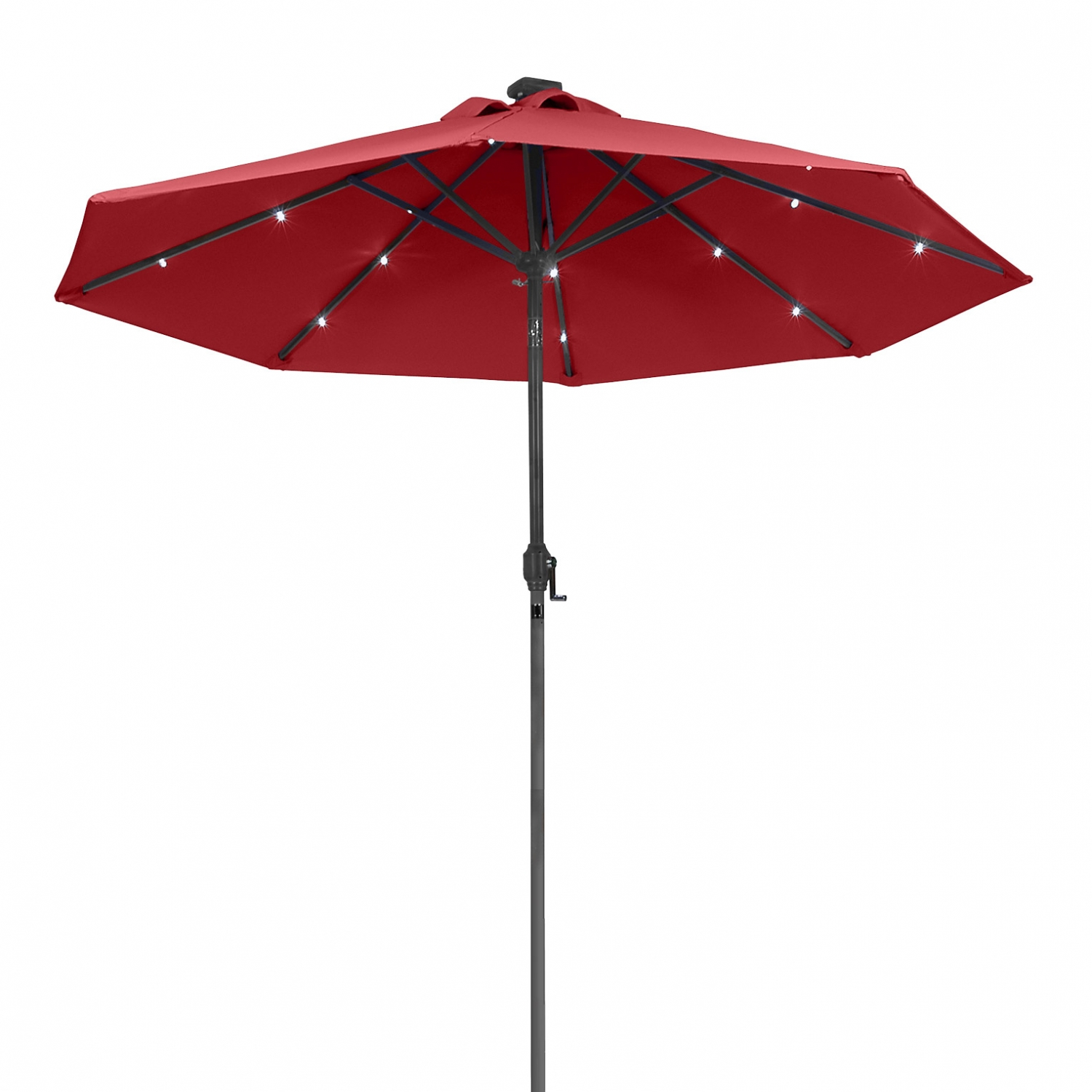 sunergy 50140838 9ft solar powered metal patio umbrella w