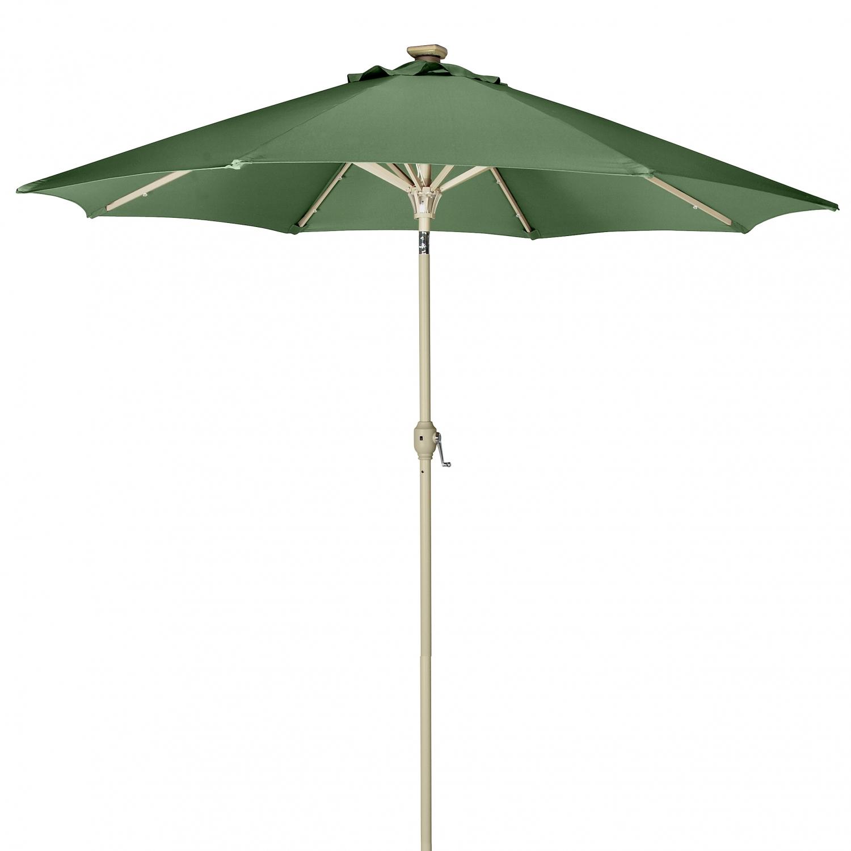Led Lights For Patio Umbrella :  9ft Solar Powered Patio Umbrella w 24 LED Lights Hunter Green  eBay