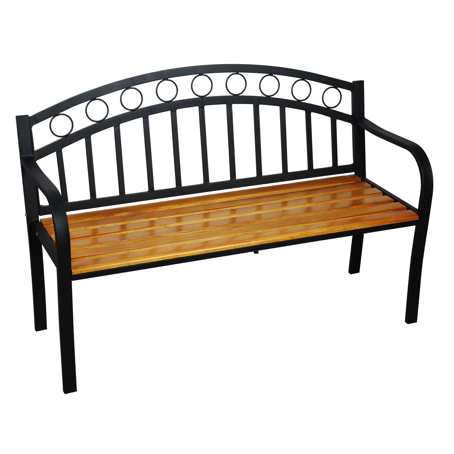 astonica 50140961 outdoor jasper metal and wood garden bench ebay. Black Bedroom Furniture Sets. Home Design Ideas