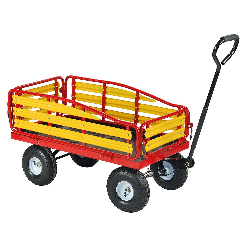Electric Farm Wagon ~ Tahoe hay ride farm utility garden cart red