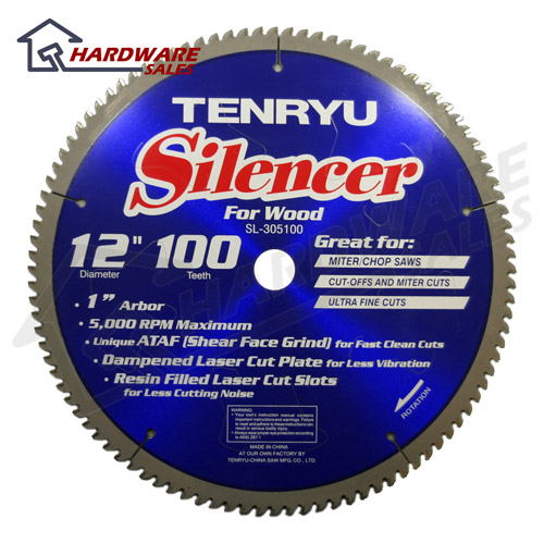 Tenryu sl 305100 12 inch carbide tipped table miter saw blade for 12 inch table saw blades