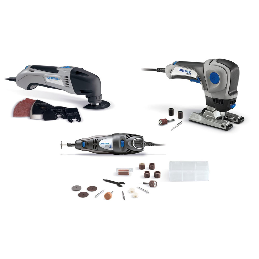 Dremel system 3 pack multi max trio 300 series rotrary - Accesorios para dremel ...