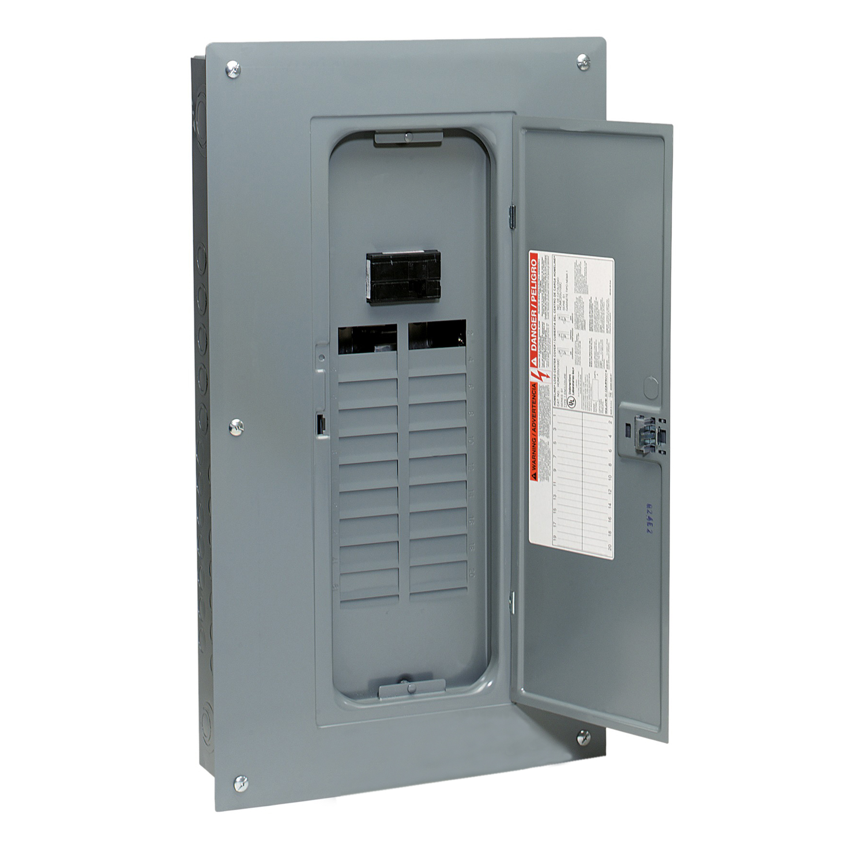 Electrical Load Center : Schneider electric homvp homeline amp breaker panel