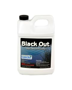 Sanco Crystal Blue Black Out Black Reflective Pond Surface Colorant, 1 Gallon