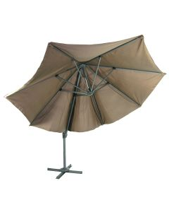 River Cottage Gardens Outdoor 11-Foot Polyester Parasol Resort Umbrella, Taupe