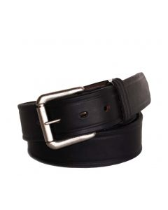 R.G. BULLCO USA Made RGB-111X 1-1/2-In Full Grain Black Leather Belt - Size 46
