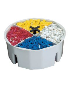 "CLC 1154 4"" Full Round Bucket Tray"