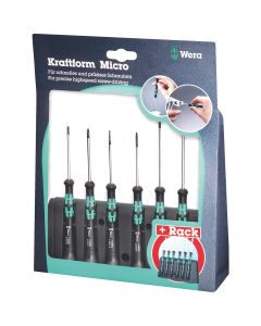 Wera 118156 Kraftform Micro Hex Screwdriver 6pc Set