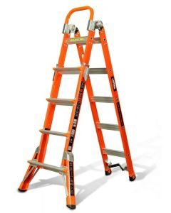 Little Giant 15296-001 ComboSXE M13 Fiberglass Articulating Ladder with V-rung