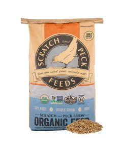 Scratch and Peck Feeds 2010-40 Organic 3-Grain Scratch Hen Treat - 40-lbs