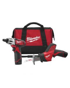 Milwaukee 2490-22 M12 Lithium Ion 12V Screwdriver & Hackzall Saw Kit