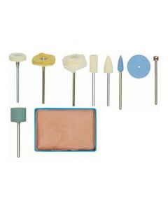 Proxxon 28285 Polishing Accessory set, 10-Piece