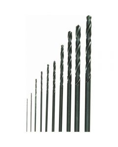 Proxxon 28874 1/64-inch - 1/8-inch HSS Twist Drill Set, 10-Pieces