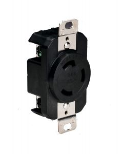 CEP Marinco 305CRRB Marine Electrical Receptacle, 30A 125V - Black