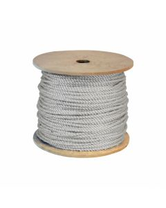 CWC 315015 1/4 Inch Twisted 3-Strand White Nylon Rope 600 Feet on Spool
