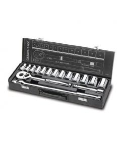 Channellock 32162 1/2-inch Metric Socket and Ratchet Set, 16-Pieces