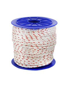 CWC 325015 3-Strand Poly-Dacron 600-Feet White Rope with Tracer, 5/16-inch