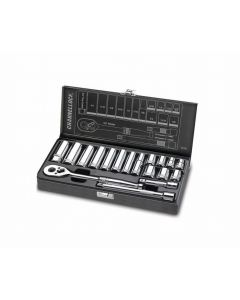 Channellock 38181 3/8-inch Driver SAE Socket Set, 18-Pieces