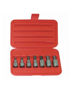 "Wright Tool 405 Hex Socket Set 1/2"" 7 Piece"