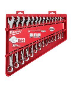 Milwaukee 48-22-9415 15-pc Combination Wrench Set - SAE