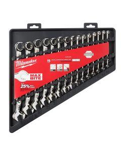 Milwaukee 48-22-9515 15-pc Combination Wrench Set - Metric