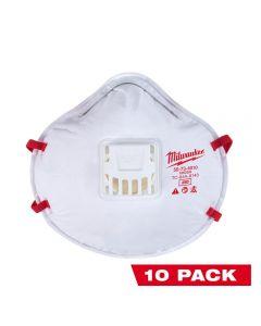 Milwaukee 48-73-4014 Professional Multi-Purpose Valved Respirator - 10-Pack