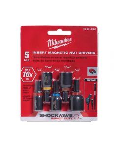 Milwaukee 49-66-4563 SHOCKWAVE Insert Magnetic Nut Driver Set - 5 pieces