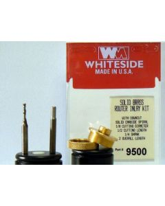 Whiteside 9500 Solid Brass Router Inlay Kit with Downcut Solid Carbide Spiral