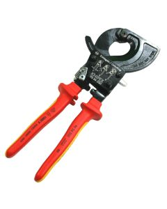 Knipex 9536250 Insulated Ratchet Action 10-Inch Cable Cutter Tool