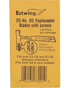 Estwing B-20 Shingler's Hammer Replacement Blades - Bulk Pack (20)