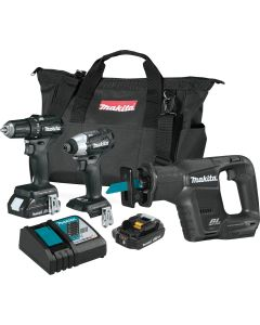 Makita CX300RB 18V LXT Lithium-Ion Brushless Cordless 3-Pc. Combo Kit