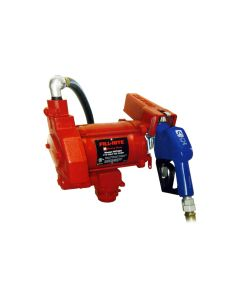 The Fill-Rite FR700VARC Fuel Pump with Hose and Nozzle