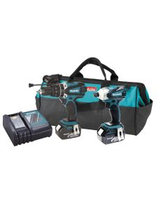 Makita LXT238X1 18V LXT Lithium-Ion Hybrid Cordless Combo Kit, 2-Piece