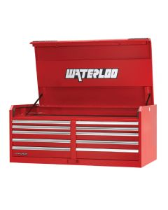 Waterloo PCH-561030RD HD Series 10-Drawer Steel Tool Storage Chest, Red