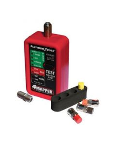 Platinum Tools T104C 4Mapper Coax Tester with 4 Color Coded F Connector Remotes