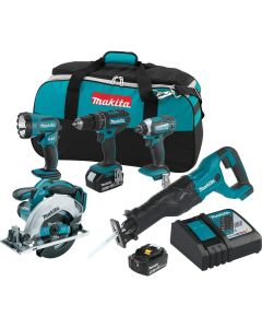 Makita XT505 18V LXT Lithium-Ion Cordless 5-Pc. Combo Kit