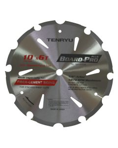 "TENRYU BP-25506 Board-Pro Plus Fiber Cement 10"" 6T Saw Blade Poly-Crystalline Diamond Faced Tips"