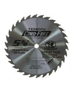 TENRYU CF-13530W Cordless Wood Cutting 5-3/8-Inch 30T Saw Blade
