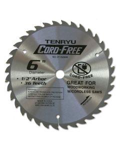 TENRYU CF-15236W Cordless Wood 6-Inch 36T Saw Blade