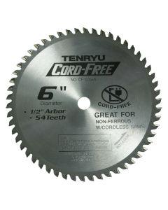 TENRYU CF-15254A Cordless Aluminum Metal Cutting 6-Inch 54T Saw Blade