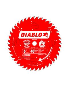 Freud D0640X Diablo 6-inch 40 Tooth ATB Finishing Saw Blade with 1/2-inch Arbor