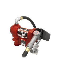 Fill-Rite FR1210G 12-Volt DC Cast Iron Fuel Transfer Pump 15 GPM w/ 12-FT Hose