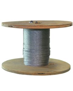 West Coast Wire Rope G332100C 250 Feet of Galvanized Wire Rope 3/32-inch