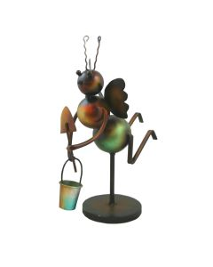 Decorative Metal Bee Garden Statue