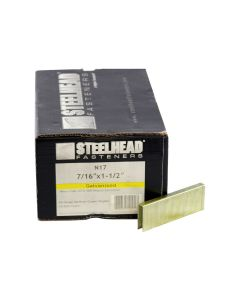 Steelhead N17 Galvanized Staples, 7/16-Inch Crown, 1-1/2-Inch leg, 10,000-Pack